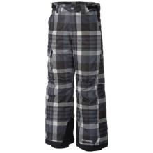 Columbia Sportswear Bugaboo Pants - Insulated (For Boys) in Black Plaid - Closeouts