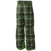 Columbia Sportswear Bugaboo Pants - Insulated (For Boys) in Dark Backcountry Plaid - Closeouts