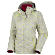 Columbia Sportswear Bugaboo Parka - 3-in-1 (For Women) in Sea Salt/Neon Light Vertical Print - Closeouts