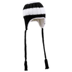 Columbia Sportswear Bugaboo Stripe Peruvian Beanie Hat (For Women) in Black/White Stripe