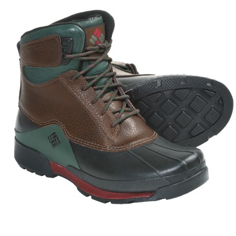 Columbia Sportswear Bugaboot Original Omni-Heat® Boots - Waterproof, Insulated (For Men) in Nutmeg/Red Element
