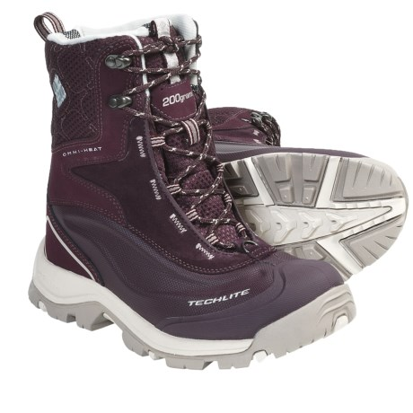 Columbia Sportswear Bugaboot Plus Omni-Heat® Winter Boots  (For Women) in Black/Bright Rose