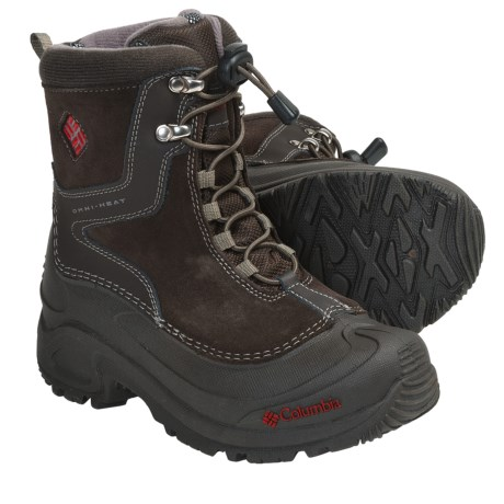 Columbia Sportswear Bugaboot Plus Omni-Heat® Winter Boots - Insulated (For Youth Boys and Girls) in Cordovan/Bronco