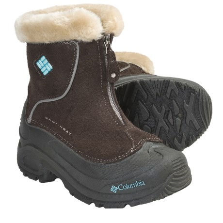 Columbia Sportswear Bugaboot Plus Omni-Heat® Winter Boots - Insulated, Zip-Up (For Youth) in Turkish Coffee/Pastel Turquoise