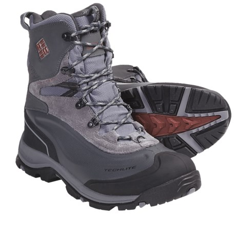 Columbia Sportswear Bugaboot Plus Omni-Heat® Winter Boots - Waterproof (For Men) in Grill/Sanguine