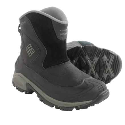 Columbia Sportswear Bugaboot Slip-On Snow Boots - Waterproof, Insulated (For Men) in Black/Charcoal - Closeouts
