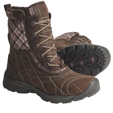 Columbia Sportswear Bugaice 2 Snow Boots - Waterproof, Insulated (For Women) in Bark/Black Cherry