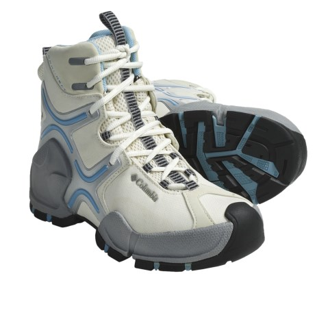 Columbia Sportswear Bugatech Lite Omni-Heat® Winter Boots - Waterproof (For Women) in Winter White/Paradise Sky