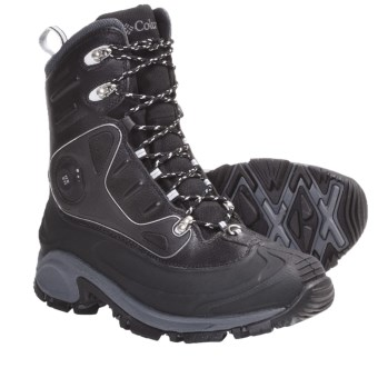 Columbia Sportswear Bugathermo Omni-Heat® Winter Boots - Waterproof, Insulated (For Men) in Black/Grill