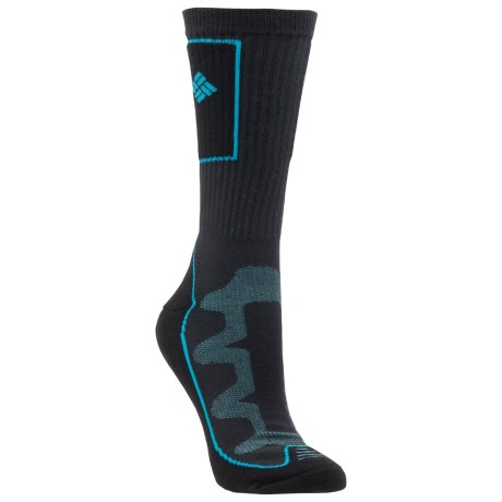 Columbia Sportswear Bugathermo Socks - Crew (For Women) in Coal/Black/Aqua