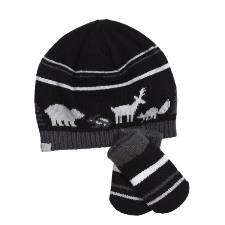 Columbia Sportswear Bunny Hill Beanie Hat and Mittens Set (For Infants) in Black