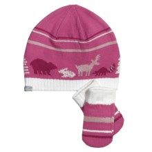 Columbia Sportswear Bunny Hill Beanie Hat and Mittens Set (For Infants) in Pink Taffy - Closeouts