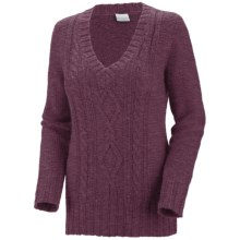 Columbia Sportswear Cabled Cutie Sweater (For Women) in Vino - Closeouts