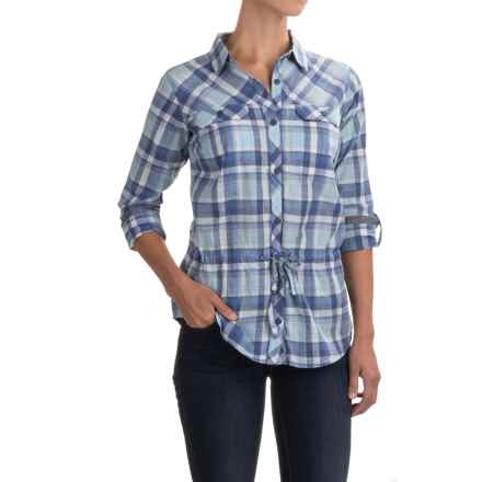 Columbia Sportswear Camp Henry II Shirt - Long Sleeve (For Women) in Bluebell Multi Plaid