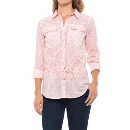 Columbia Sportswear Camp Henry II Shirt - Long Sleeve (For Women) in Lychee Ditsy Floral