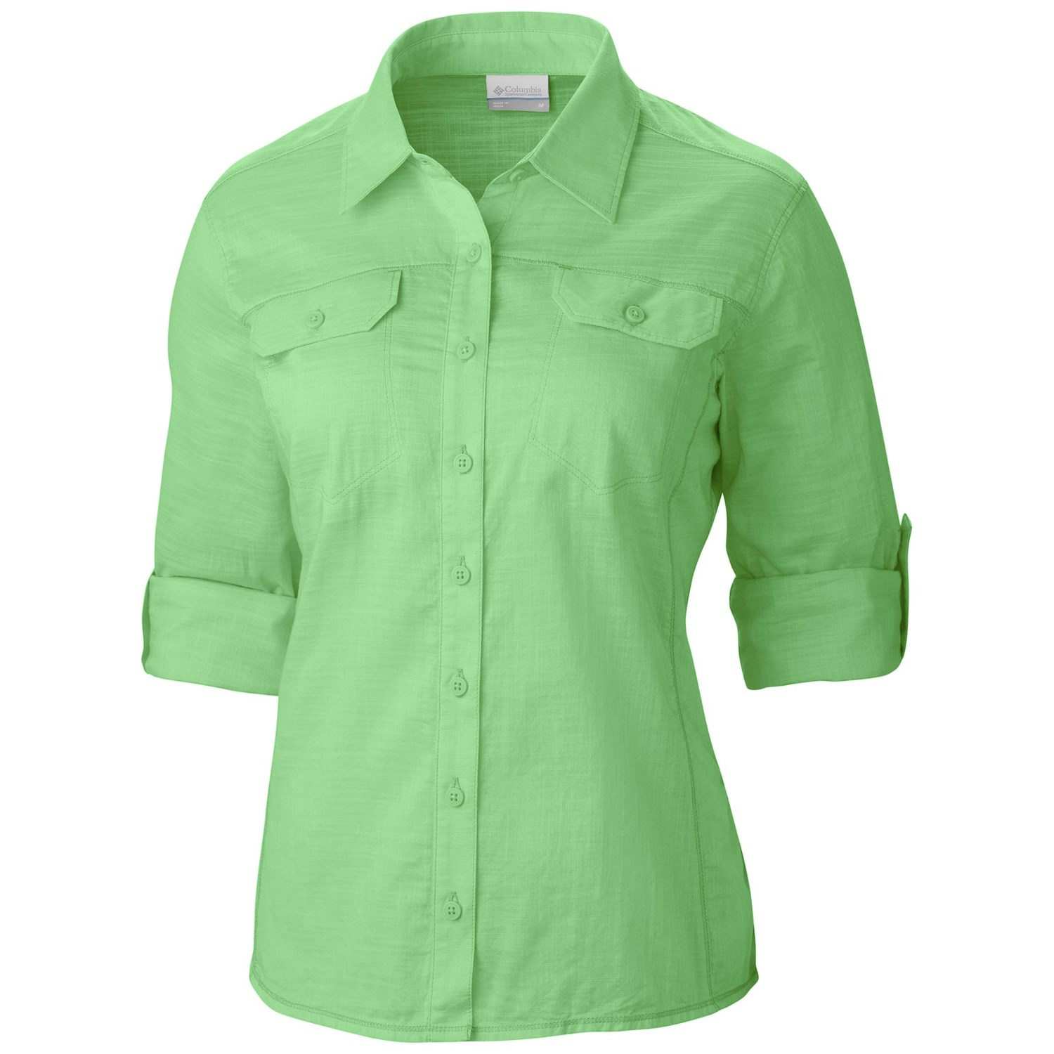 Columbia sportswear camp henry solid shirt for women 9459h for Women s long sleeve camp shirts