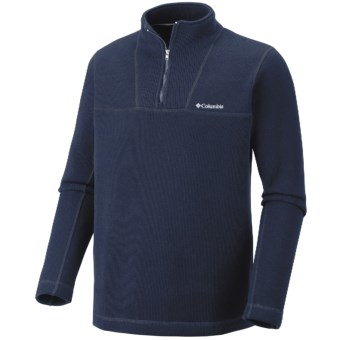 Columbia Sportswear Carbon Dated Fleece Shirt - Zip Neck (For Men) in Collegiate Navy Heather