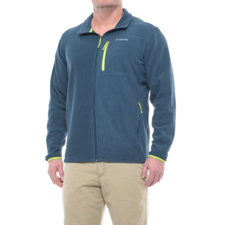 Columbia Sportswear Cascades Explorer Fleece Jacket (For Big and Tall Men) in Zinc/Voltage