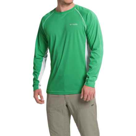 Columbia Sportswear Cast Away Omni-Freeze® ZERO Knit Shirt - UPF 50, Long Sleeve (For Men) in Dark Lime/Cool Grey - Closeouts