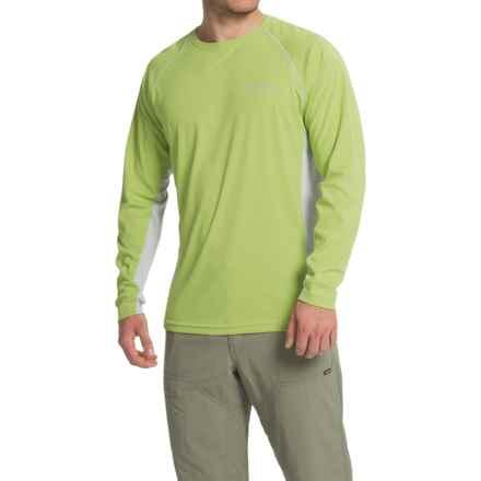 Columbia Sportswear Cast Away Omni-Freeze® ZERO Knit Shirt - UPF 50, Long Sleeve (For Men) in Napa Green/Cool Grey - Closeouts