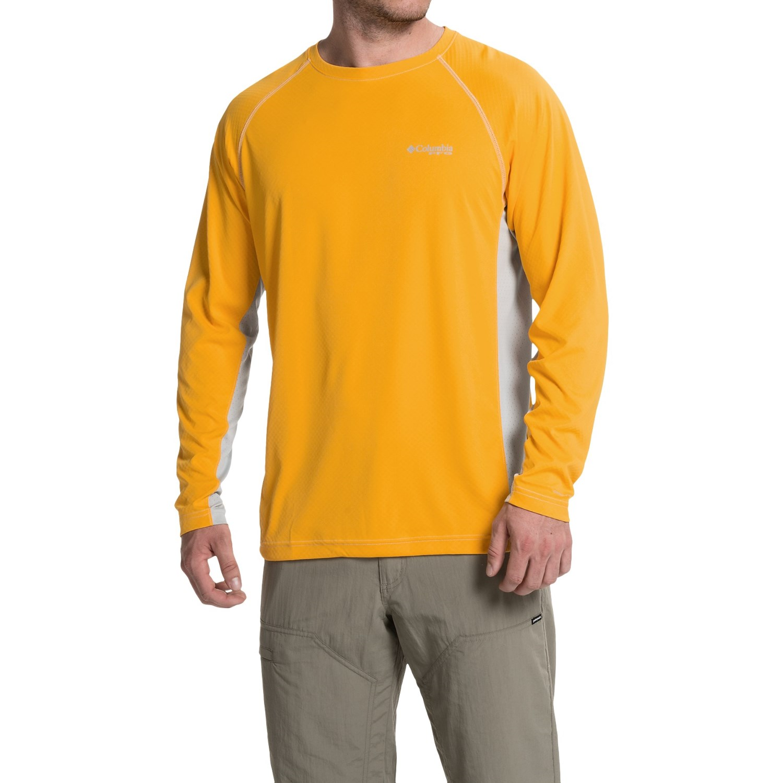 Columbia sportswear cast away omni freeze zero knit shirt for Long sleeve cooling mens shirts