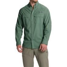 Columbia Sportswear Cast Away Omni-Freeze® ZERO Woven Shirt - UPF 50, Long Sleeve (For Men) in Commando/Cool Grey - Closeouts