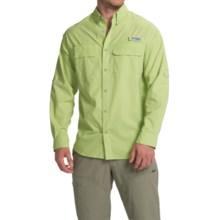 Columbia Sportswear Cast Away Omni-Freeze® ZERO Woven Shirt - UPF 50, Long Sleeve (For Men) in Napa Green/Cool Grey - Closeouts