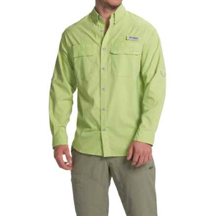 Columbia Sportswear Cast Away Omni-Freeze® ZERO Woven Shirt - UPF 50, Long Sleeve (For Men) in Napa Green/Cool Grey - Closeouts