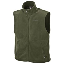 Columbia Sportswear Cathedral Peak Fleece Vest (For Big and Tall Men) in Surplus Green - Closeouts