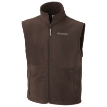 Columbia Sportswear Cathedral Peak Vest - Fleece (For Men) in Cattail - Closeouts