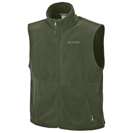 Columbia Sportswear Cathedral Peak Vest - Fleece (For Men) in Surplus Green
