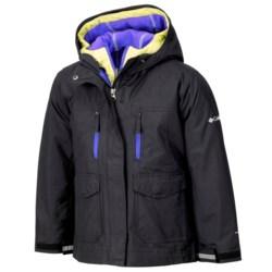 Columbia Sportswear Chic to Peak Jacket - 3-in-1 (For Girls) in Black/Purple