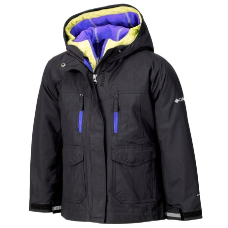 Columbia Sportswear Chic to Peak Jacket - 3-in-1 (For Girls) in Black/Purple