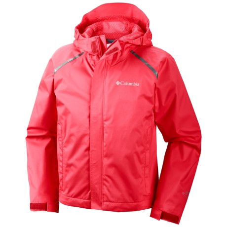 Columbia Sportswear Chromatech Omni-Tech® Rain Jacket (For Kids and Youth) in Laser Red