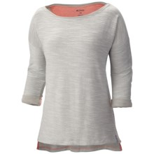 Columbia Sportswear Coastal Escape Shirt - 3/4 Sleeve (For Women) in Flint Grey - Closeouts
