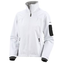 Columbia Sportswear Code 9 Jacket - Titanium, Soft Shell (For Women) in White/Oyster - Closeouts