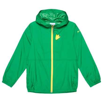 Columbia Sportswear Collegiate Flashback Windbreaker (For Little and Big Kids) in Fuse Green