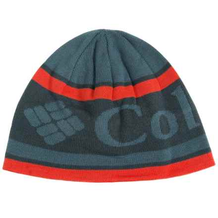 Columbia Sportswear Columbia Heat Omni-Heat® Beanie Hat (For Men and Women) in Everblue/Logo Stripe - Closeouts
