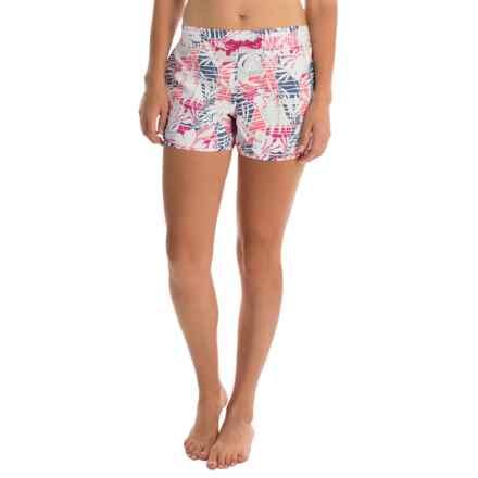 Columbia Sportswear Cool Coast II Omni-Shield® Boardshorts - UPF 50 (For Women) in Haute Pink Palm Print - Closeouts