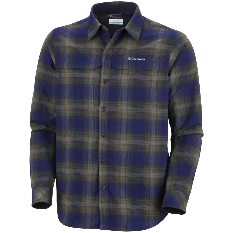 Columbia sportswear cool creek plaid shirt upf 50 long for Men s upf long sleeve shirt