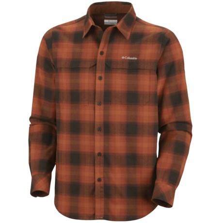 Columbia Sportswear Cool Creek Plaid Shirt - UPF 50, Long Sleeve (For Men) in Sanguine
