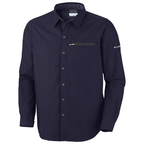Columbia Sportswear Cool Creek Shirt - UPF 50, Long Sleeve (For Men) in Ebony Blue