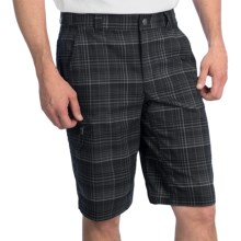 Columbia Sportswear Cool Creek Shorts - UPF 15, Stretch Plaid (For Men) in Black - Closeouts