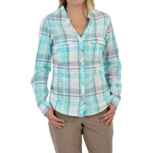 Columbia Sportswear Coral Springs Shirt - Long Sleeve (For Women) in Atoll Large Plaid - Closeouts