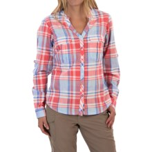 Columbia Sportswear Coral Springs Shirt - Long Sleeve (For Women) in Harbor Blue Large Plaid - Closeouts