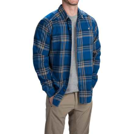 Columbia Sportswear Cornell Woods Shirt - Long Sleeve (For Men) in Marine Blue Plaid - Closeouts