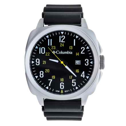 Columbia Sportswear Cornerstone SI Watch (For Men) in Black/Black Silicone - Closeouts