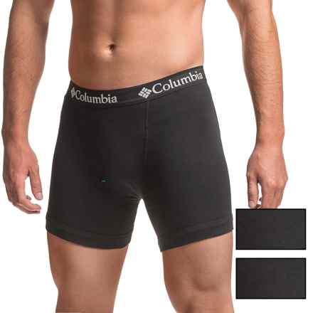 Columbia Sportswear Cotton Boxer Briefs - 3-Pack (For Men) in Black - Closeouts