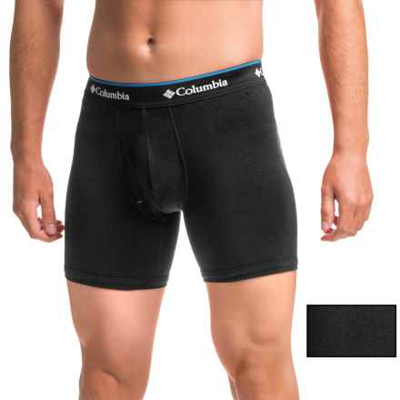 Columbia Sportswear Cotton Stretch Boxer Briefs - 2-Pack (For Men) in Black - Closeouts