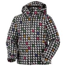 Columbia Sportswear Crash Out Jacket - Waterproof (For Toddler Girls) in Black Houndstooth Print - Closeouts
